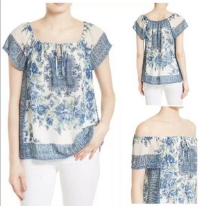 Joie Tops - Joie Taj silk off shoulder floral peasant top